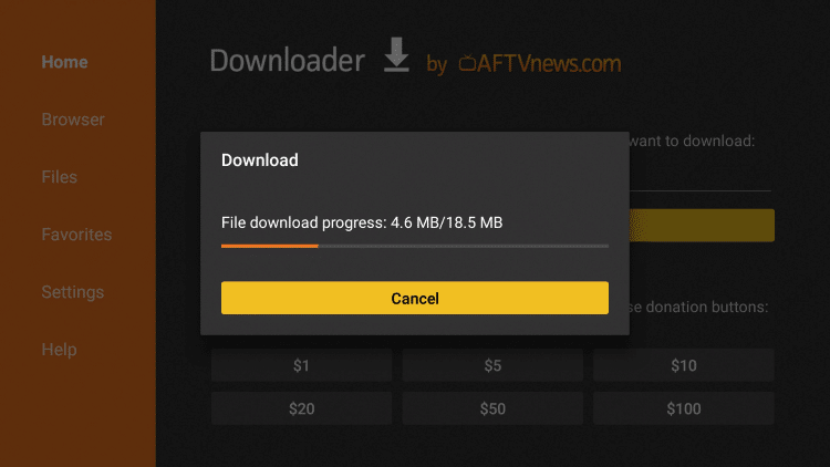 complete the download process