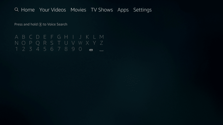 hover to the search icon